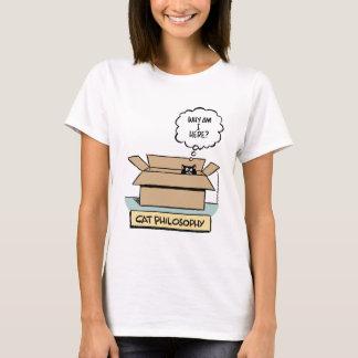 Camiseta Boneca das senhoras da filosofia do gato