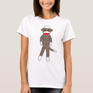 Camiseta Boneca das senhoras do macaco da peúga cabida
