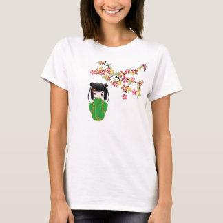 Camiseta Boneca de Sakura Kokeshi, t-shirt