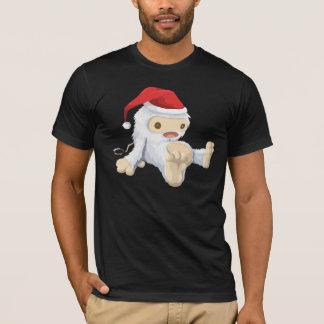 Camiseta Boneca de Sasquatch do Natal com um chapéu