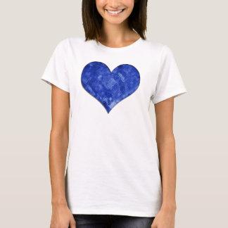 Camiseta Boneca de vidro azul do coração