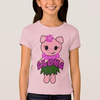 Camiseta Boneca leitão das meninas de Hula (cabida)