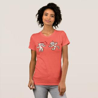 Camiseta Boneca masculina do voodoo que funciona de uma