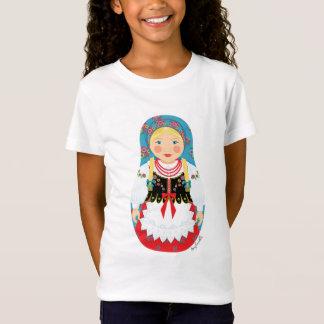 Camiseta Boneca polonesa das meninas de Matryoshka da