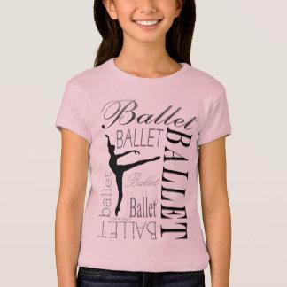 Camiseta Boneca T das meninas do balé - Arabesque
