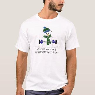 Camiseta Boneco de neve do levantamento de peso com dizer