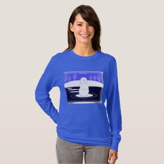 Camiseta Boneco de neve e água