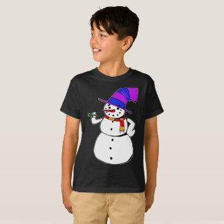 Camiseta Boneco de neve feliz