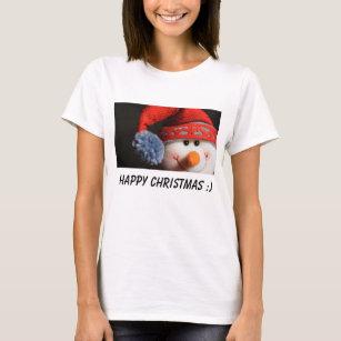 Camiseta Boneco de neve vermelho bonito e adorável - Natal 9ed81b809f903
