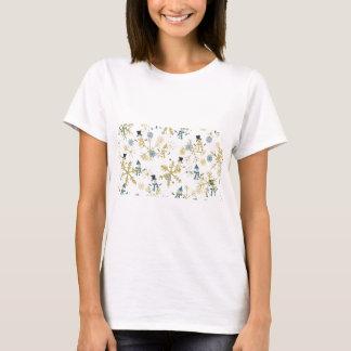 Camiseta Bonecos de neve e flocos