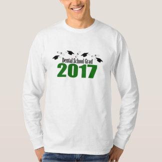 Camiseta Bonés do formando 2017 da escola dental e diplomas