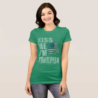 Camiseta Bonito beije-me que eu sou Dia de São Patrício do