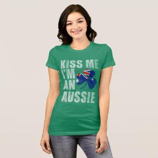 Camiseta Bonito beije-me que eu sou um Dia de São Patrício