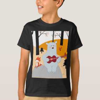 Camiseta Bonito cante um lobo da raposa da canção do verão