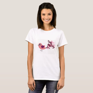Camiseta bonito da arte gráfica do pássaro