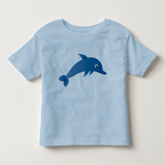 Camiseta bonito do azul do golfinho dos desenhos