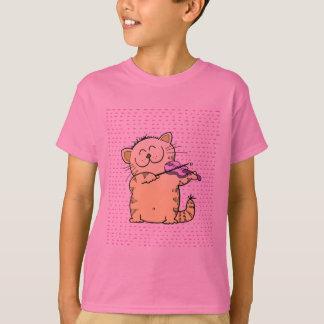 Camiseta Bonito-Gatinho-violinista