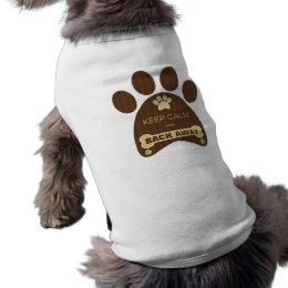 Camiseta Bonito mantenha o t-shirt engraçado ausente do cão
