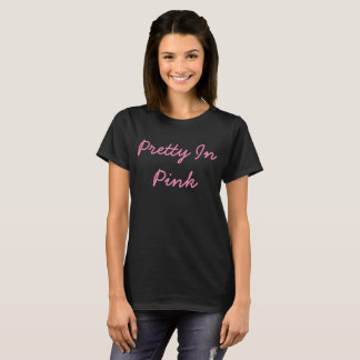 Camiseta Bonito no T básico das mulheres cor-de-rosa