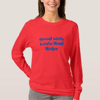 Camiseta bons meninos do mau do amor das meninas