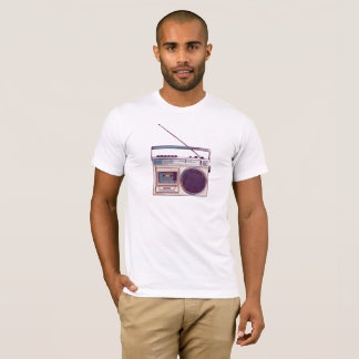 Camiseta Boombox de rádio retro