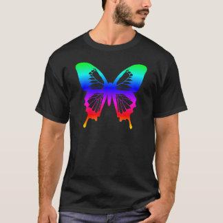 Camiseta Borboleta - arco-íris