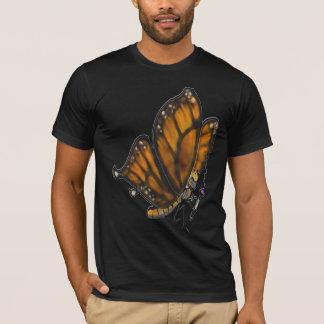 Camiseta Borboleta de monarca com tubulação