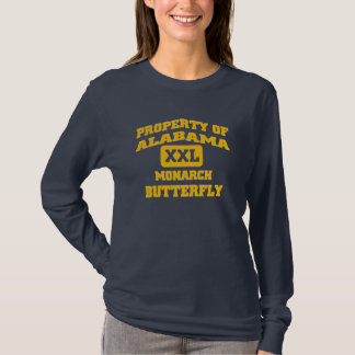 Camiseta Borboleta de monarca de Alabama XXL