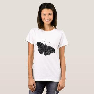 Camiseta Borboleta do Buckeye em preto e branco