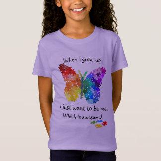 Camiseta Borboleta do quebra-cabeça do autismo quando eu