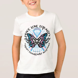 Camiseta Borboleta do Transgender tribal