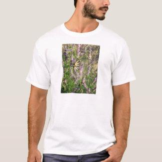 Camiseta Borboleta e lavanda
