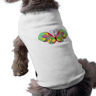 Camiseta borboleta elegante