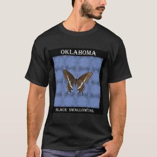 Camiseta Borboleta preta de Oklahoma Swallowtail