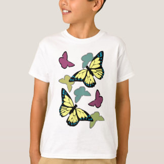 Camiseta Borboletas coloridas brilhantes