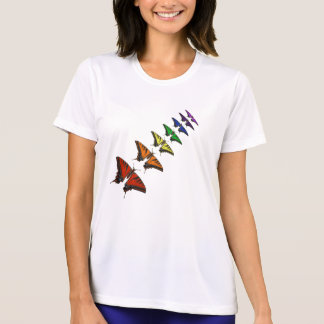 Camiseta Borboletas de Chakra do arco-íris