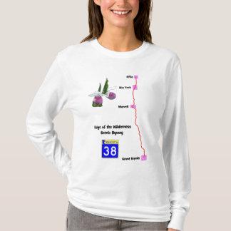 Camiseta Borda do byway cénico da região selvagem