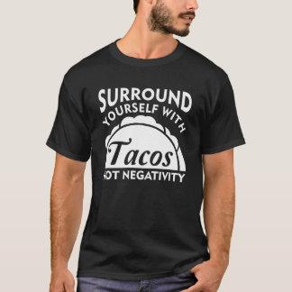 Camiseta Bordadura você mesmo com negatividade do Taco não