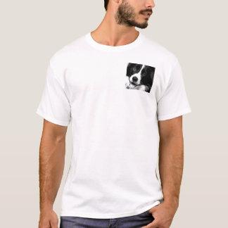 Camiseta Border collie preto e branco
