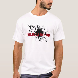 Camiseta Borrão do óleo do estêncil do óleo de Colorado do