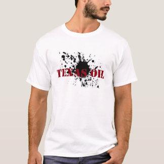 Camiseta Borrão do óleo do estêncil do preto do óleo de