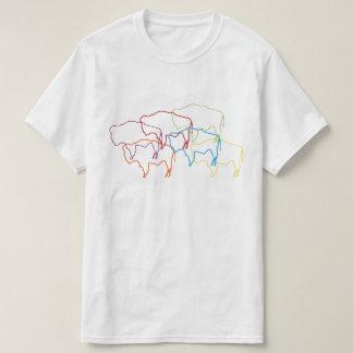 Camiseta borrão do orgulho do bisonte de wyoming