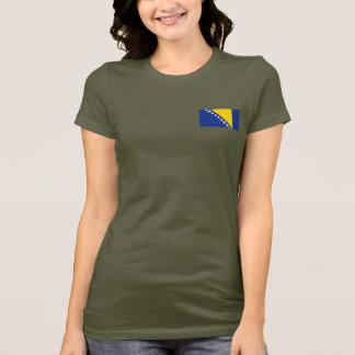 Camiseta Bósnia - de bandeira e de mapa de Herzegovina