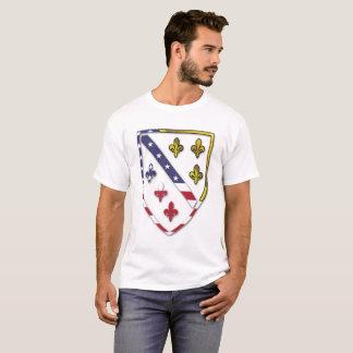 Camiseta Bósnia - EUA temáticos - design de Bósnia