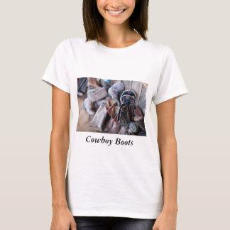 Camiseta Botas de vaqueiro do t-shirt das mulheres