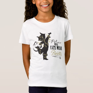Camiseta Botas reais do desgaste dos gatos