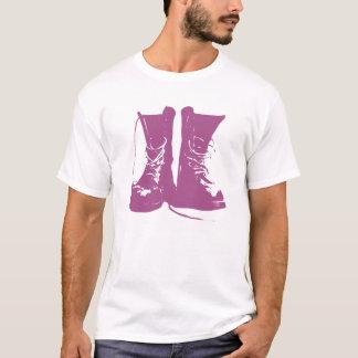 Camiseta Botas roxas da lavanda com laços desatados