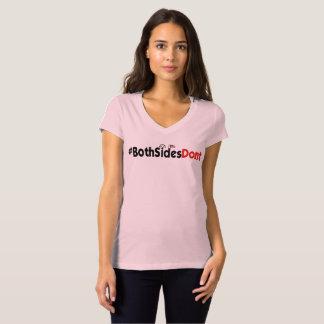 Camiseta #BothSidesDont - Bella+V-Pescoço do jérsei das