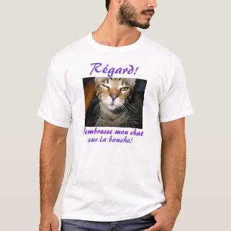 Camiseta Bouche do la do sur do bate-papo de J'embrasse
