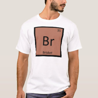 Camiseta Br - símbolo da mesa periódica da química da carne